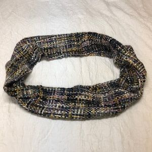Multicolored knit infinity scarf